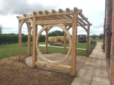 Wooden Pergola, Thirsk