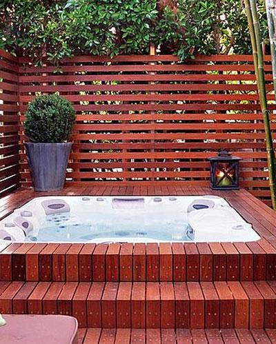 Wooden Hot Tub Surrounds in Yorkshire - Simon Bowler