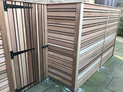 Slatted Screen Fencing - Harrogate Small Image